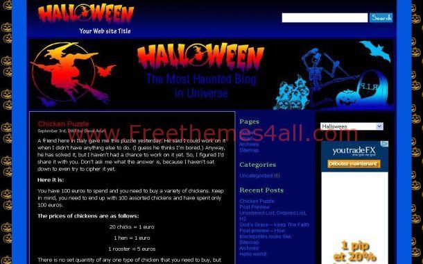 Black Halloween WordPress Theme