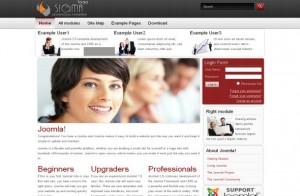 Grunge Grey Business Free Joomla Theme