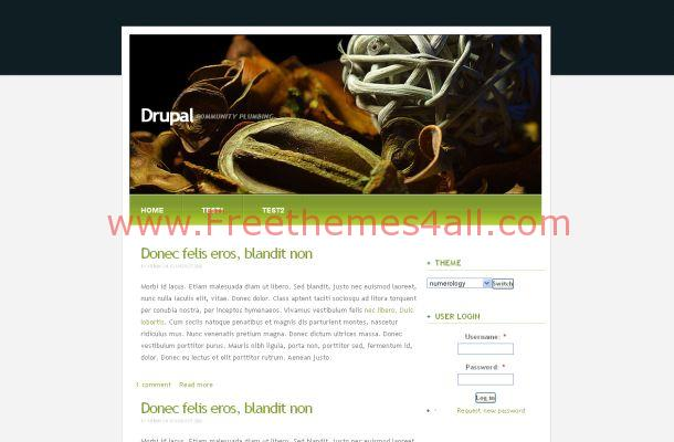 Black Green Drupal Theme