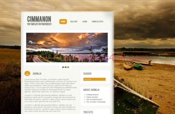 Free Web 2.0 Grunge Nature Joomla Theme Template