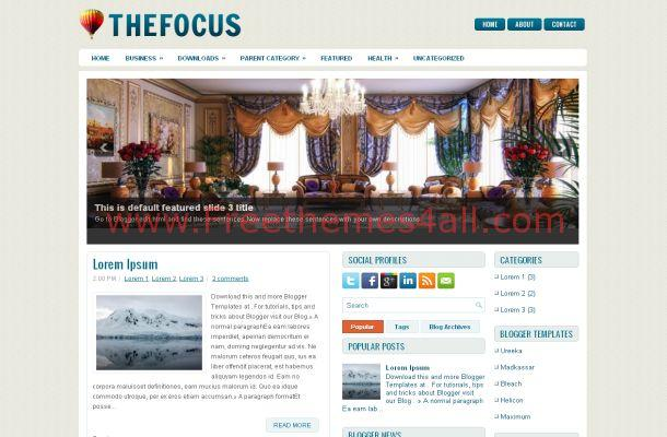 Blue News Magazine Free Blogger Theme