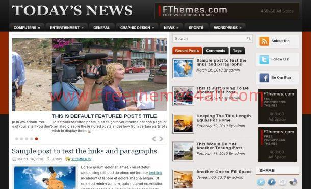 Red News Wordpress Theme