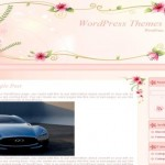 Pink Flowers Wordpress Theme Template