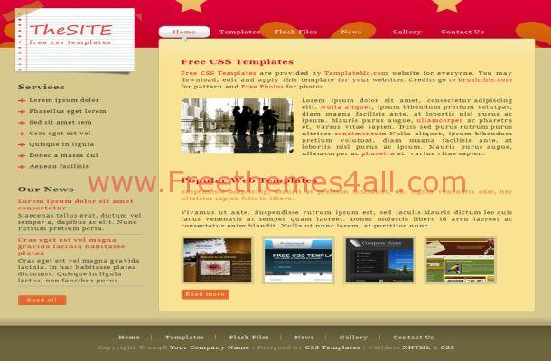 Yellow Brown Website Template