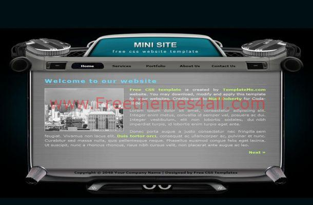Free HTML Black Grey Music CSS Website Template