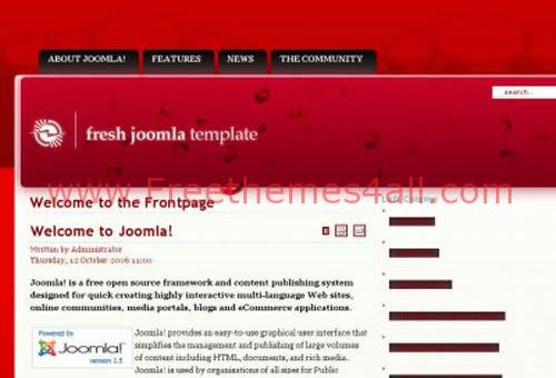 Red Joomla Template