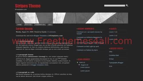 Black Web 2.0 Blogger Template