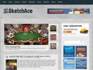 Sketch Ace Poker Casino Wordpress Theme