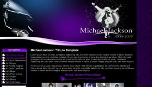 Purple Black Michael Jackson Website Template