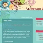 Green Flowers Blogger Template