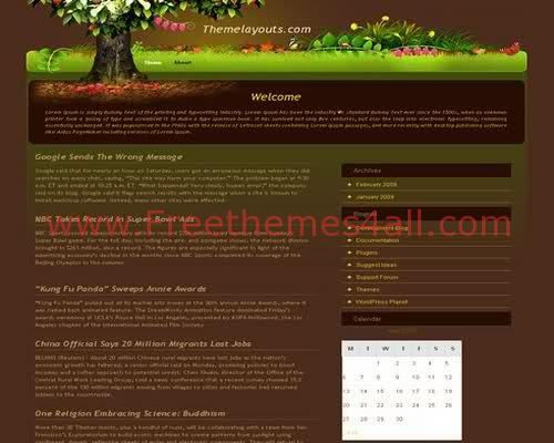 Free Magic Garden WordPress Theme