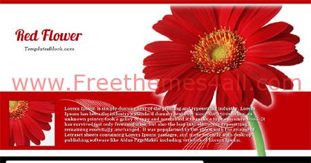 Free Blogger Red Flower Nature Web2.0 Template