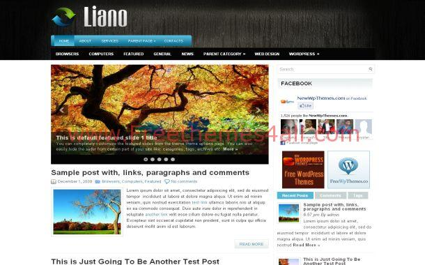 Grunge Blog Black Jquery Free WordPress Theme