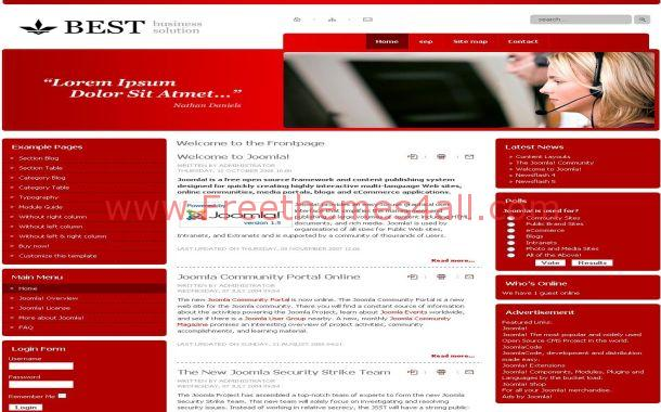 Red Professional Business Joomla Template