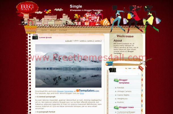 Shopping Girls Free Blogger Template