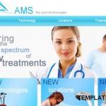 Health Medical Blue Website Template