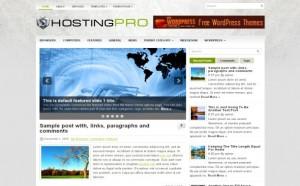 Hosting Free Wordpress Theme