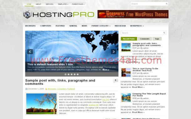 Hosting Free WordPress Theme