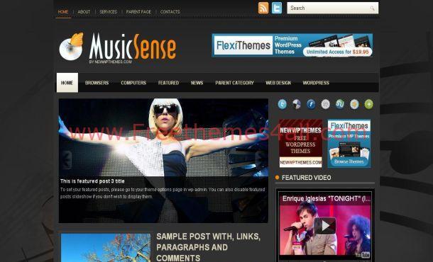 Orange Music Free Wordpress Theme Download