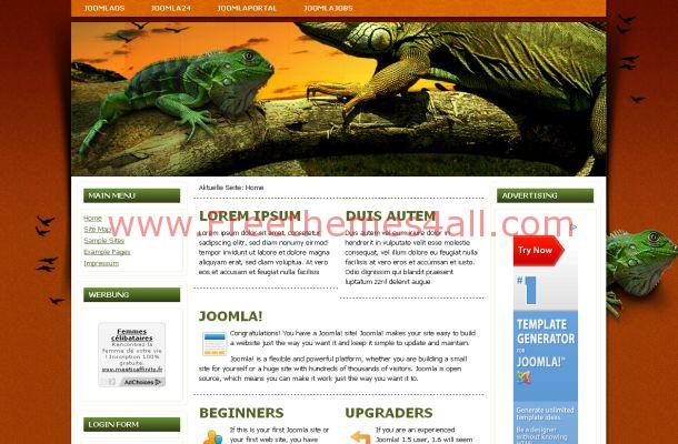 Orange Animals Free Joomla Theme