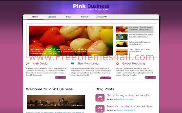 Free Colorful Violet Business CSS Website Template