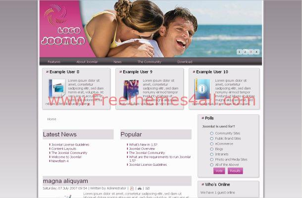 Dating Flash Free Joomla Theme