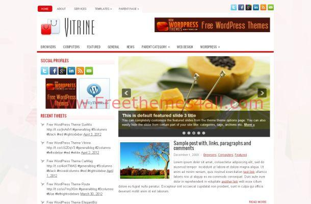 Shopping WordPress Theme Template