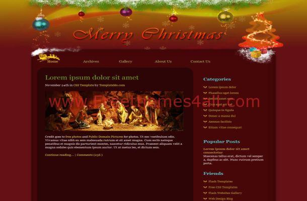 Free CSS Christmas Brown Green Website Template
