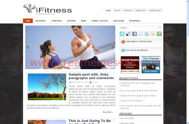Fitness Sport Free WordPress Theme
