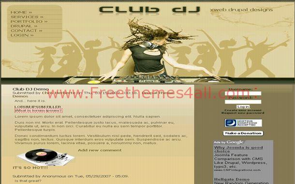 Sexy Music DJ Drupal Theme
