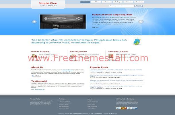 Corporate Business Blue CSS Website Template