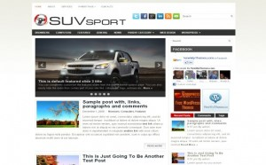 Sport Cars Jquery Free Wordpress Theme