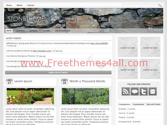 Free Stone Web2.0 WordPress Magazine Theme