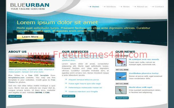 Urban City Blue Black Free HTML Website Template