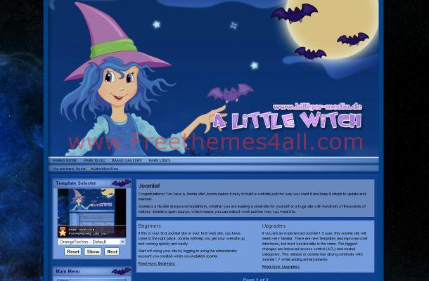 Free Joomla Halloween Blue Art Theme Template