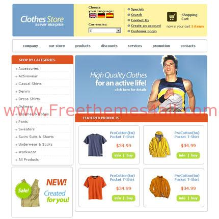 Clothes Shop Template