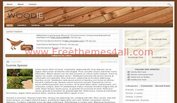 Free WordPress Woodie Magazine Theme Template
