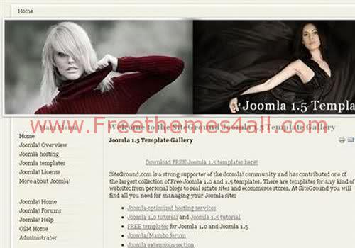 Free Joomla Woman Celebrities Theme Template