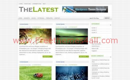 Free Blogger Green Neutral Magazine Web2.0 Template