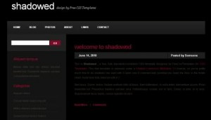 Black Red CSS Website Template