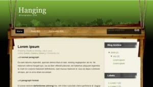 Free Blogger Nature Theme Green Template