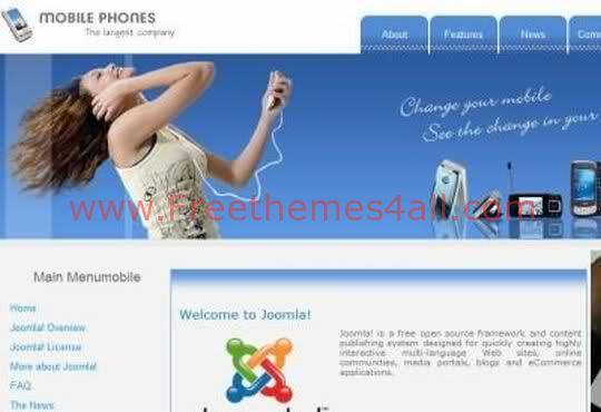 Mobile Phone Store Joomla Template Theme