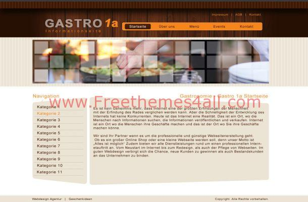 Free Joomla Brown Theme Abstract Business Template