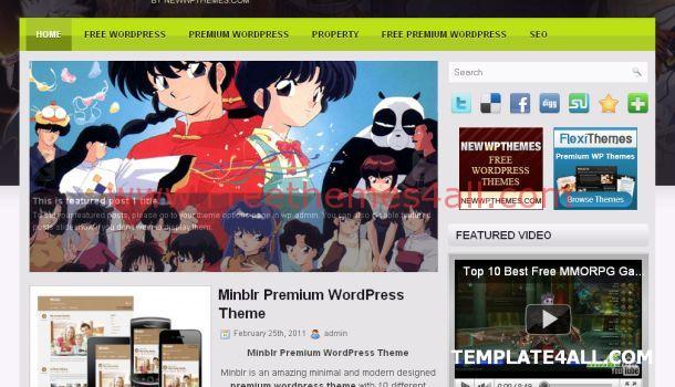 Online Anime Manga Wordpress Theme Free Download