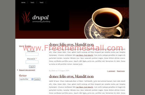 Free Drupal Coffee Theme Template