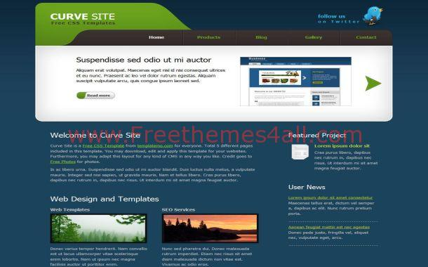 Abstract Blue Green Business Free CSS Template