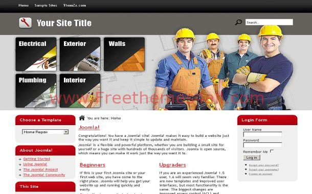 Free Grey Chrome Business Joomla Theme