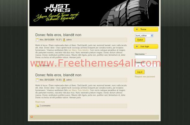 Cars Garage Black Business Drupal Theme Template