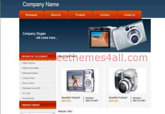 Camera Shop Web Template Theme