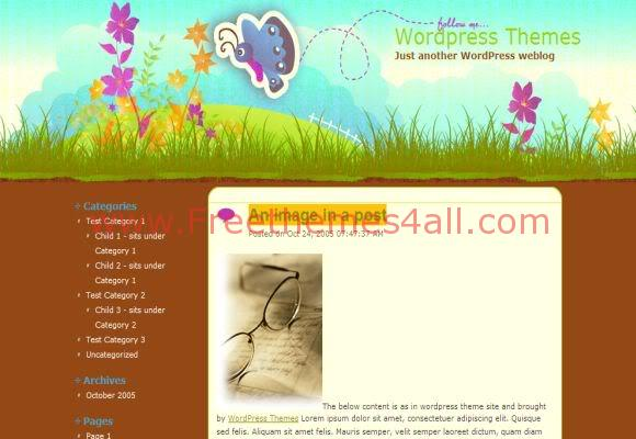 Wings Garden WordPress Theme